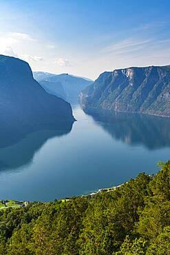 Overlook over Aurlandsfjord, Aurland, Norway, Europe