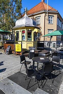 Pedestrian zone of Tromso, Norway, Europe