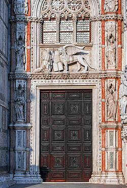 Magnificent Gate, Doge's Palace, Venice, Veneto, Italy, Europe