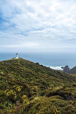 Cape Reinga Lighthouse, Cape Reinga, Te Rerenga Wairua, Northland, North Island, New Zealand, Oceania