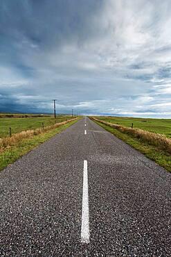 Empty road, Karamea, Buller District, West Coast, South Island, New Zealand, Oceania