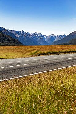 Landscape, Milford Sound area, Fiordland National Park, Fiordland, South Island, New Zealand, Oceania