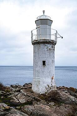 White lighthouse, Stenshuvuds nationalpark, Sweden, Europe