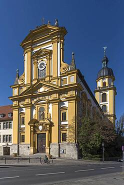 Protestant town church, baroque building from 1699, Kitzingen, Lower Franconia, Bavaria, Germany, Europe