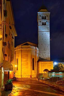 Church Chiesa di Santa Maria Maggiore in the evening, Trento, Trentino-Alto Adige, Italy, Europe