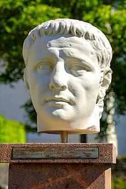 Tiberius Claudius Caesar Augustus Germanicus, Roman Museum, Bedaium, Seebruck, Chiemsee, Chiemgau, Upper Bavaria, Bavaria, Germany, Europe