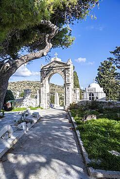 Agia Triada Church Cemetery, Lefkes, Paros, Cyclades, Greece, Europe