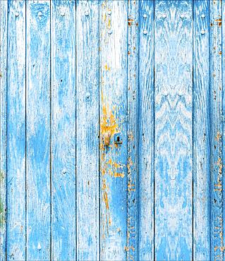 Blue wooden door, Managua, Nicaragua, Central America