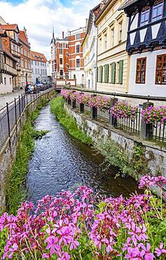 Muehlgraben in Quedlinburg, Saxony-Anhalt, Germany, Europe