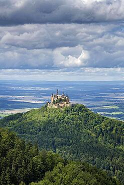 Hohenzollern Castle, Bisingen, Baden-Wuerttemberg, Germany, Europe