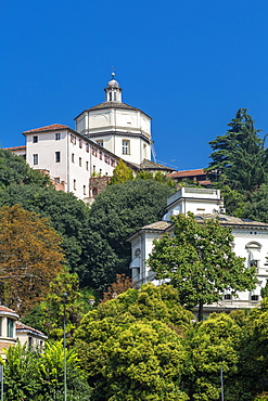 View of Santa Maria del Monte dei Cappuccini, Turin, Piedmont, Italy, Europe