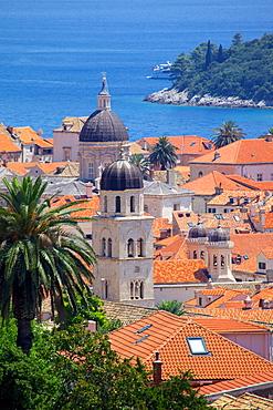 View over Old Town, UNESCO World Heritage Site, Dubrovnik, Dalmatia, Croatia, Europe