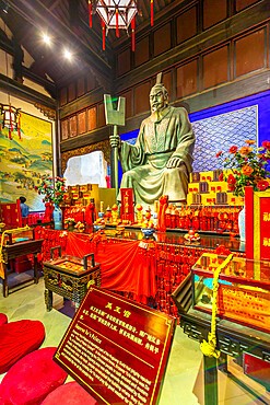 View of Emporor Yu's Palace in Arhat Buddhist Temple, Yuzhong District, Chongqing, China, Asia