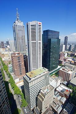View from Sofitel Melbourne on Collins, Melbourne, Victoria, Australia, Pacific