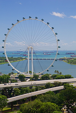 Marina Bay, Singapore Flyer, Singapore, Southeast Asia