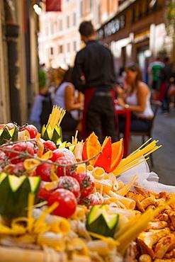 Side street restaurant near Trevi Fountain, Rome, Lazio, Italy, Europe