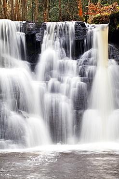 Goitstock Waterfall in Goitstock Wood, Cullingworth, Yorkshire, England, United Kingdom, Europe