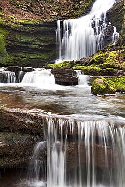 Scaleber Force (Foss Waterfall) near Settle, North Yorkshire, Yorkshire, England, United Kingdom, Europe