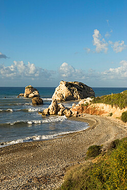 Aphrodite's Rock, Paphos, UNESCO World Heritage Site, South Cyprus, Cyprus, Mediterranean, Europe