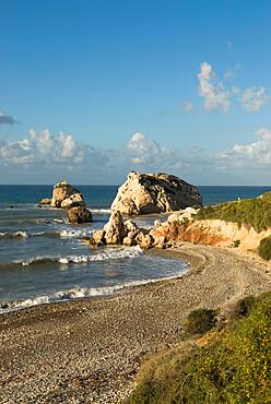 Aphrodite's Rock, Paphos, UNESCO World Heritage Site, South Cyprus, Cyprus, Mediterranean, Europe