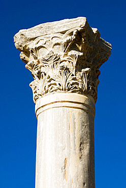 Classical column, Kourion (Curium), Limassol, Cyprus, Europe