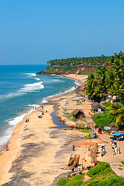 Papanasam Beach, Varkala, Kerala, India, Asia