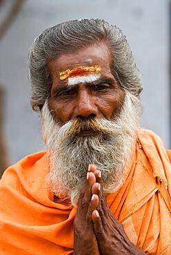Holy Man, Madurai, Tamil Nadu, India, Asia