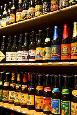 Belgian beers, Bruges, West Vlaanderen (Flanders), Belgium, Europe
