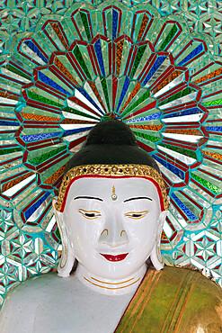 Umin Thounzeh (30 Caves) Pagoda containing 45 Buddha statues, Sagaing Hill, Sagaing, near Mandalay, Myanmar (Burma), Asia