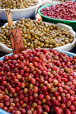 Olives in the souk, Essaouira, Atlantic coast, Morocco, North Africa, Africa
