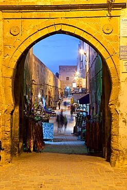 Rue de la Skala in the Medina at night, UNESCO World Heritage Site, Essaouira, Atlantic coast, Morocco, North Africa, Africa