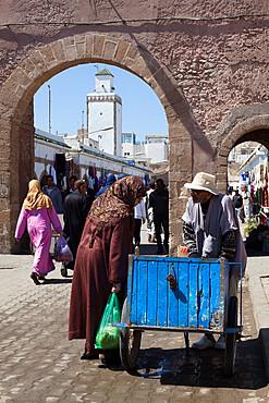 The souk in the Medina, UNESCO World Heritage Site, Essaouira, Atlantic coast, Morocco, North Africa, Africa