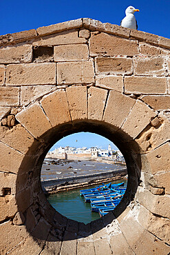 View to the ramparts and medina from the old fort, Essaouira, Atlantic coast, Morocco, North Africa, Africa