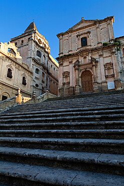 Baroque church of San Francesco, Noto, Sicily, Italy, Europe