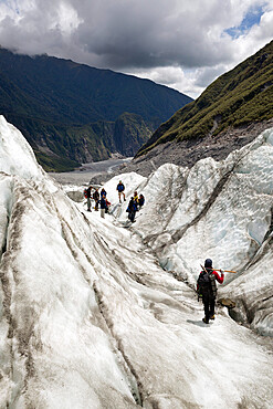 Glacier walk tour, Fox Glacier, West Coast, South Island, New Zealand, South Pacific