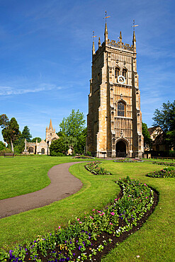 The Bell Tower and St. Lawrence's church, Evesham, Worcestershire, England, United Kingdom, Europe