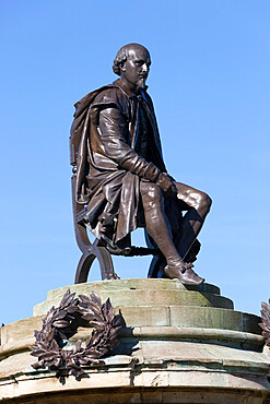 Shakespeare Monument, Stratford-upon-Avon, Warwickshire, England, United Kingdom, Europe