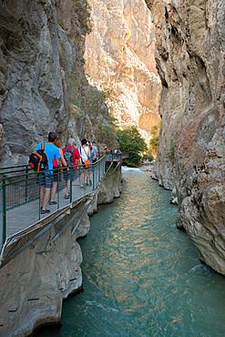 Saklikent Gorge, near Fethiye, Mugla Province, Lycia, Southwest Turkey, Turkey, Asia Minor, Eurasia