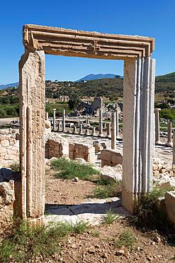 Ruined colonnaded Main Street, Patara, near Kalkan, Lycia, Antalya Province, Mediterranean Coast, Southwest Turkey, Anatolia, Turkey, Asia Minor, Eurasia