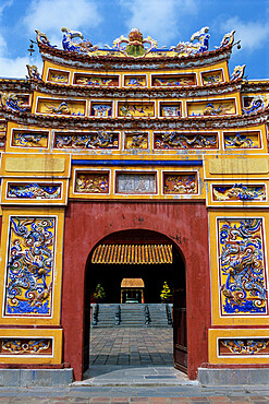 Chinese gateway inside Imperial city, The Citadel, Hue, UNESCO World Heritage Site, North Central Coast, Vietnam, Indochina, Southeast Asia, Asia