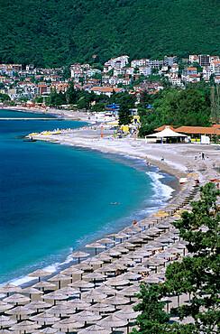 Slovenska Beach, Budva, The Budva Riviera, Montenegro, Europe