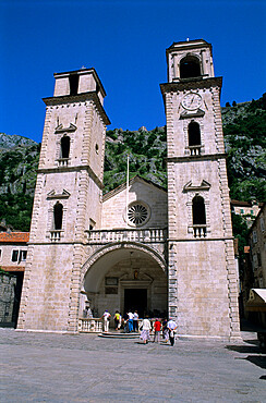 St. Tryphon Cathedral, Kotor, UNESCO World Heritage Site, The Boka Kotorska (Bay of Kotor), Montenegro, Europe