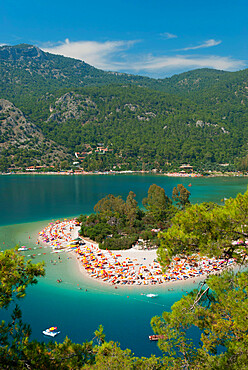 Lagoon Beach, Olu Deniz, near Fethiye, Aegean, Anatolia, Turkey, Asia Minor, Eurasia