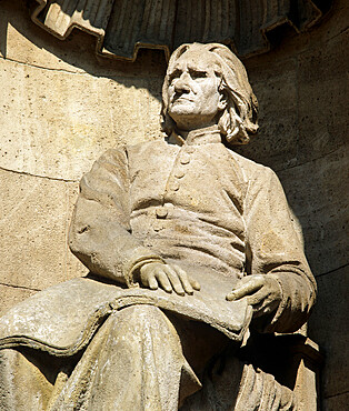 Statue of composer Franz Liszt outside the State Opera, Budapest, Hungary, Europe