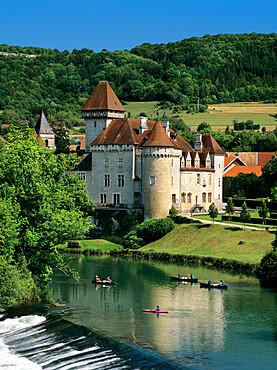 Chateau de Cleron, Cleron, Loue Valley, Franche Comte, France, Europe