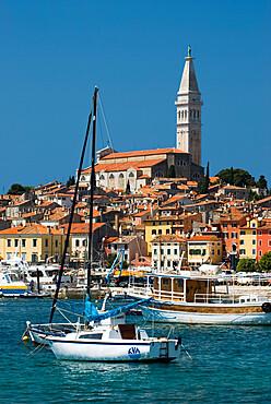 Old Town and St. Euphemia`s Church, Rovinj, Istria, Croatia, Adriatic, Europe