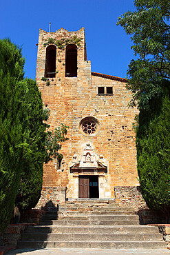 Sant Pere Church, Pals, Costa Brava, Catalonia, Spain, Europe