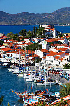 Harbour view, Pythagorion, Samos, Aegean Islands, Greece