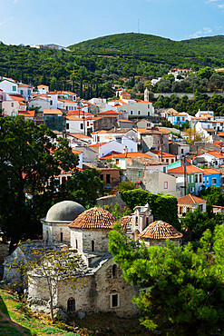 View over Vathy old town, Samos Town, Samos, Aegean Islands, Greece