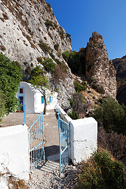 Chapel below Cave of Pythagoras, Mount Kerketeas, near Kambos, Samos, Aegean Islands, Greece